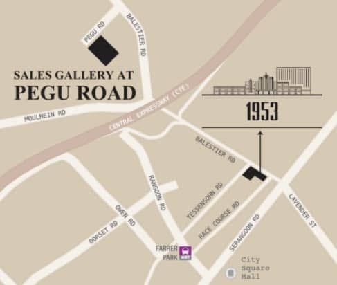 1953 Sales Gallery Pegu road